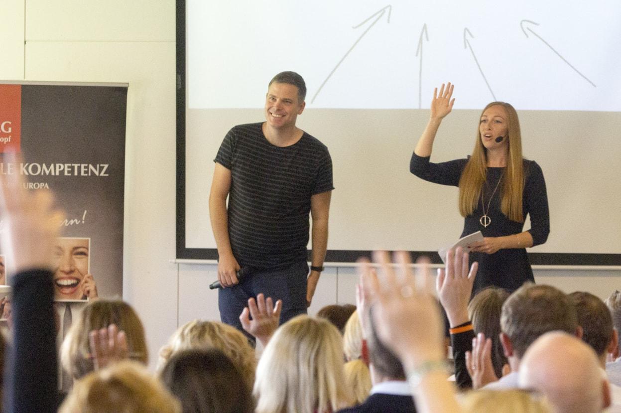 Mentalkongress 2018 Kristian Prinzjakowitsch freut sich über Reaktionen des Publikums